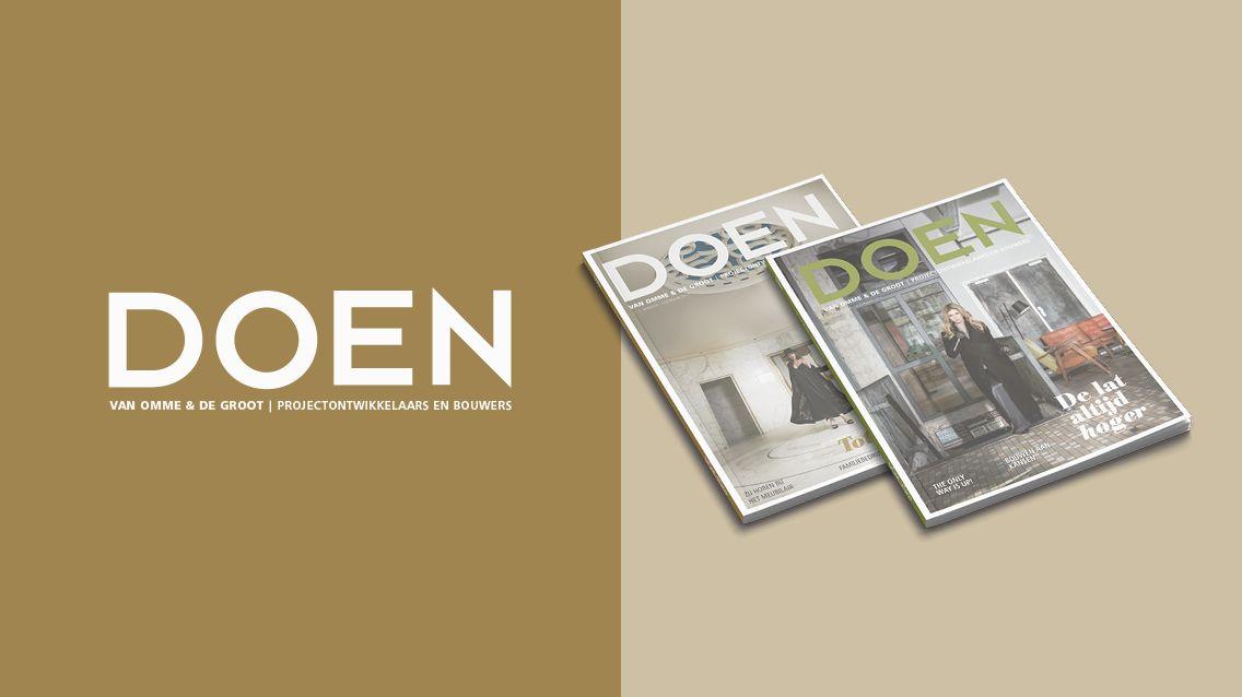DOEN magazine door Presskit Media